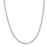 Sterling Silver 4.0mm Rolo Chain 36 Inch, MPN: QFC75-36