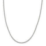 Sterling Silver 3.75mm Oval cable chain 30 Inch, MPN: QFC94-30
