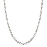 Sterling Silver 5.3mm Oval cable chain 30 Inch, MPN: QFC95-30