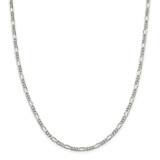 Sterling Silver 3.5mm Figaro Chain 16 Inch, MPN: QFG100-16