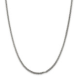 Sterling Silver Solid 3.25mm Antiqued Square Spiga Chain 30 Inch, MPN: QH369-30