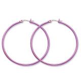 Chisel Pink IP plated 48mm Hoop Earrings - Stainless Steel SRE434