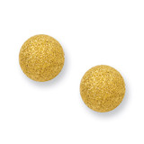 Chisel Yellow IP-plated Laser Cut 8mm Bead Post Earrings - Stainless Steel SRE443