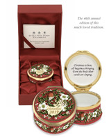 Halcyon Days 2019 Christmas Box Enamel Box ENCH190101G