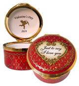 Halcyon Days 2019 St Valentine's Day Enamel Box, MPN: ENSV190101G EAN: 5060171105725