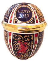 Halcyon Days 2019 Easter Egg Enamel Box, MPN: ENEG190108G EAN: 5060171105787