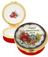 Halcyon Days 2019 Happy Anniversary Enamel Box, MPN: ENHA190601G EAN: 5060171105749