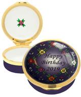 Halcyon Days 2019 Happy Birthday Enamel Box, MPN: ENHB191101G EAN: 5060171105732
