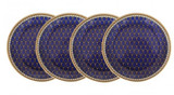 Halcyon Days GC Antler Trellis Midnight Coaster Set x 4, MPN: BCGAT11SCN EAN: 5060171100980