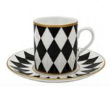 Halcyon Days Parterre Black Coffee Cup & Saucer, MPN: BCPAR02CSG EAN: 0