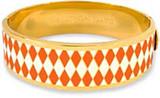 Halcyon Days 19mm Parterre Orange Cream Gold Hinged Bangle, MPN: HBPAR070519G EAN: 5060171106197