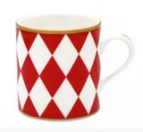 Halcyon Days Parterre Red Mug, MPN: BCPAR06MGG EAN: 5060171103813
