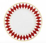 """Halcyon Days Parterre Red 8"""" plate, MPN: BCPAR068PG EAN: 5060171103868"""