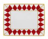 Halcyon Days Parterre Red Trinket Tray, MPN: BCPAR06TTG EAN: 5060171103844