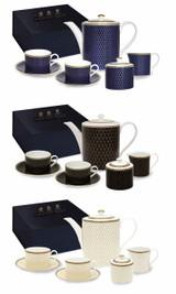 Halcyon Days GC Antler Trellis Ivory Tea for Two -Boxed Set, MPN: BCGAT04T42G