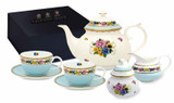 Halcyon Days CoM Shell Garden Tea for Two Boxed Set, MPN: BCCSG12T42G