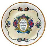 Halcyon Days Vivat Regina Ivory Coaster Set of 4, MPN: BCVRE04SCG
