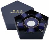 Halcyon Days GC Antler Trellis Midnight Tea Cup & Saucer Set of 5, MPN: BCGAT11T5G