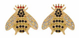 Halcyon Days Sparkle Queen Bee Clip on Earrings, MPN: EABES02WDLG