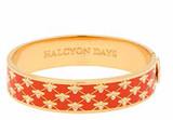 Halcyon Days 13mm Bee Sparkle Trellis Orange Gold Hinged Bangle, MPN: HBBES0713G