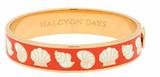 Halcyon Days 13mm Shells Orange-Cream-Gold Hinged Bangle, MPN: HBSHS0713G