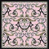 Halcyon Days Wallace Ballustrade Pink 90x90 100% Silk Scarf, MPN: SAWBA26SS90