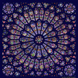 Halcyon Days The Rose Window Navy 90x90 100% Silk Scarf, MPN: SAWES11SS90