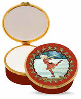 Halcyon Days Christmas Ice Skating Enamel Box, MPN: ENCIS0651G