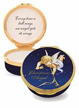 Halcyon Days Christmas Angel Enamel Box, MPN: ENCAN1101G