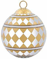 Halcyon Days Parterre Gold Bauble Ornament, MPN: BCPAR1603XBN