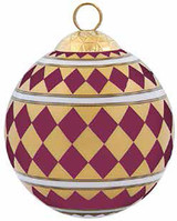 Halcyon Days Parterre Burgundy Bauble Ornament, MPN: BCPAR2916XBN