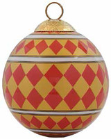 Halcyon Days Parterre Red Bauble Ornament, MPN: BCPAR0616XBN