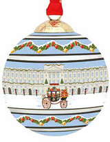 Halcyon Days Buckingham Palace Carriage in the Snow Bauble Ornament, MPN: BCBPC12XBN