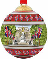 Halcyon Days Buckingham Palace from The Mall Bauble Ornament, MPN: BCBPM09XBN