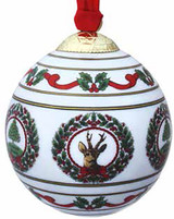 Halcyon Days Vintage Christmas White Bauble Ornament, MPN: BCHCT03XBN