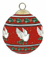 Halcyon Days Dove of Peace Red Bauble Ornament, MPN: BCDOP06XBN