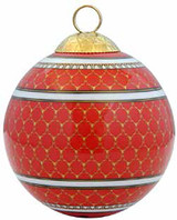Halcyon Days GC Antler Trellis Red Bauble Ornament, MPN: BCGAT06XBN