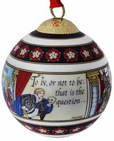 Halcyon Days Shakespeare Bauble Ornament, MPN: BCSHA01XBN