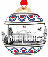 Halcyon Days Washington Skyline Bauble Ornament, MPN: BCWAS03XBN