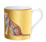 Halcyon Days MW Leopard Gold Mug, MPN: BCMWL16MGG