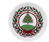 Halcyon Days Vintage Christmas Tree White Coaster, MPN: BCHCT03CON
