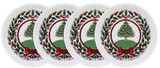 Halcyon Days Vintage Christmas Tree White Coasters Set of 4, MPN: BCHCT03SCN