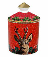 Halcyon Days GC Antler Trellis & Stag Red Jasmine Lidded Candle, MPN: BCGAS06LCG