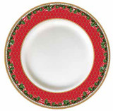 """Halcyon Days GC Antler Trellis & Stag Red 10"""" Plate, MPN: BCGAS06DPG"""