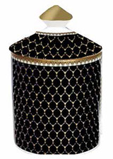 Halcyon Days GC Antler Trellis Black Oud Imperial Lidded Candle, MPN: BCGAT02LCG
