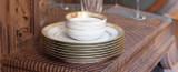 Robert Haviland & C. Parlon Limoges Abeilles Gold Round Cake Plate With Handles, MPN: HP80049