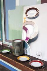 Robert Haviland & C. Parlon Limoges Arc En Ciel Almond Green Round Cake Plate 12.5 Inch, MPN: HP68347