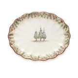 Arte Italica Natale Scalloped Oval Platter MPN: NAT6839, UPC: 814639003574