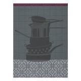 Le Jacquard Francais Au Fourneau Dark Grey Tea Towel 24x31 , MPN: 24179, UPC: 3660269241797