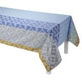 Le Jacquard Francais Mosaique Enduite Blue Coated Tablecloth 69x126 , MPN: 24589, UPC: 3660269245894